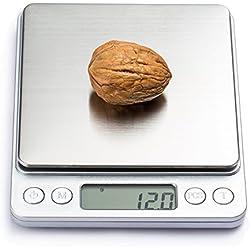 COSYLAND Báscula Digital para Cocina de Alta Precisión 3000g-0.1g Balanza Electrónica de Cocina Peso de Cocina