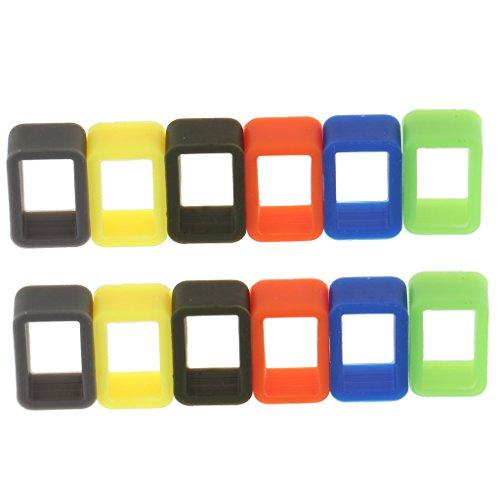 Homyl 12 Stücke Uhrenarmband Halterung Hoop Gummi Halter Halter Halter - Mehrfach, 12mm - 12mm Uhrenarmband Gummi