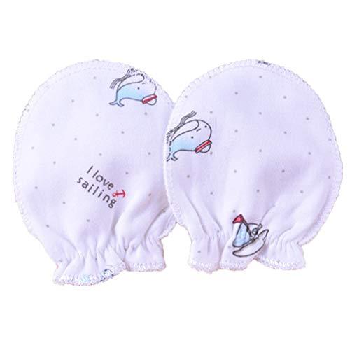 Wyhweilong 5 pares bebés recién nacidos mitones