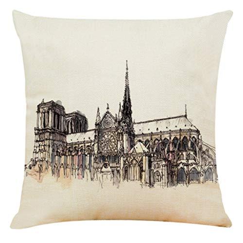 OPAKY Wohnkultur Kissenbezug Paris Sacred Building Kissenbezug Dekokissenbezüge