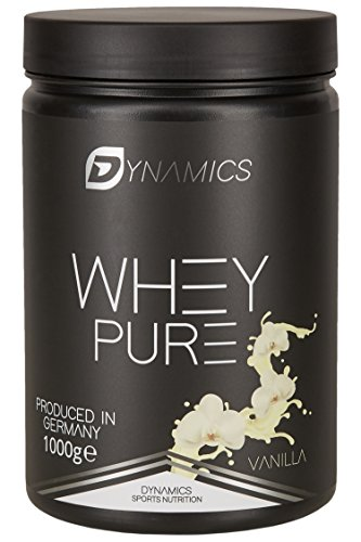 Dynamics Nutrition Whey Pure 1kg | Whey Isolate | Low Carb | Low Fat | Aspartam Frei | Hergestellt in Deutschland | Eiweißpulver zum mischen mit Wasser oder Milch | (Vanilla)