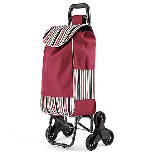 Può salire le scale piegando il carrello della spesa - 3 round pieghevole carrello della spesa supermercato carrello della spesa portatile passeggino carrello anziani acquistare carrello di cibo,A
