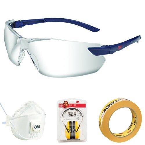 3M DIY-Set (Schutzbrille, Partikelmaske, Kapselgehörschützer, Malerabdeckband