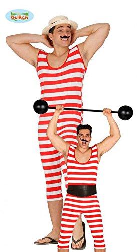 Badeanzug lustiger Gewichtheber Clowmkostüm Herren, (Lustige Badeanzüge)