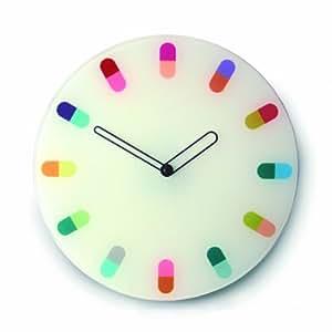 Joseph & Joseph PILS012GB Horloge murale Pills Verre sécurit