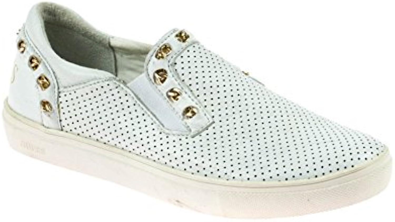 Guess Damen Schlüpfschuhe Slipper Leder Weiß 2018 Letztes Modell  Mode Schuhe Billig Online-Verkauf