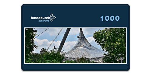 hansepuzzle 50234 Panorama-Puzzle: Olympiastadion, 1000 Teile in hochwertiger Kartonbox, Puzzle-Teile in wiederverschliessbarem Beutel -
