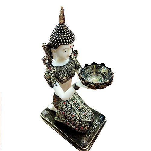 GYFHMY Halten Lampe Kerzenhalter Religiöse Öl Home Decor Geschenke Geburtstag Licht Tasse Ghee Buddhist Supplies Handmade Traditionelle Kandelaber Klassische Elegante Design Formales Ereignis -