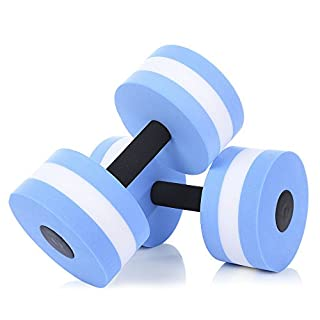 Asdomo Übungshanteln, Sport Aquatic Training, Hanteln auf Pool Übungen für Wasser Aerobic Training Fitness Übungen Ausrüstung für Damen/Herren - Set von 2