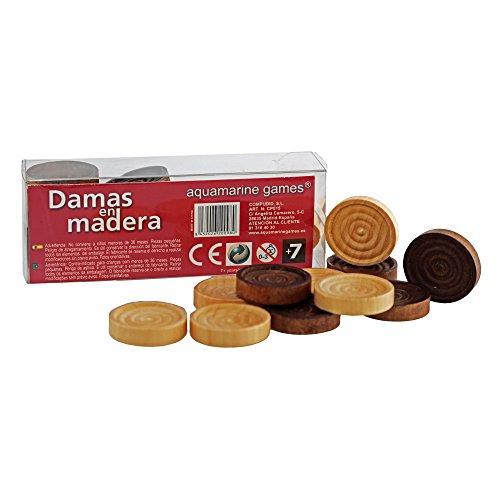 Aquamarine Games Recambio de damas de madera (Compudid cp014)