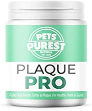 Pets Purest 100% Natural Plaque Off, Plaque Remover & Tartar Remover For Dogs, Cats & Pets (180g) Brea