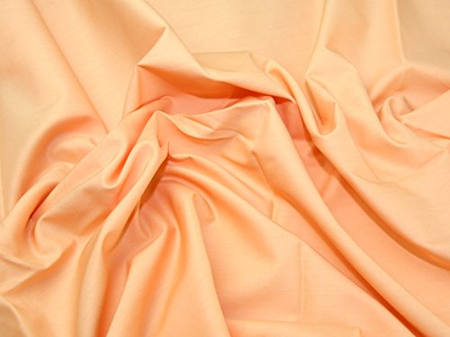 Candy Cotton Lawn Dress Fabric Peach - per metre for sale  Delivered anywhere in Ireland