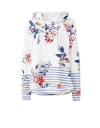 Tom Joule Joules Marlston Print Pullover Hoody 8 Reg White Stripe Whitstable Floral -