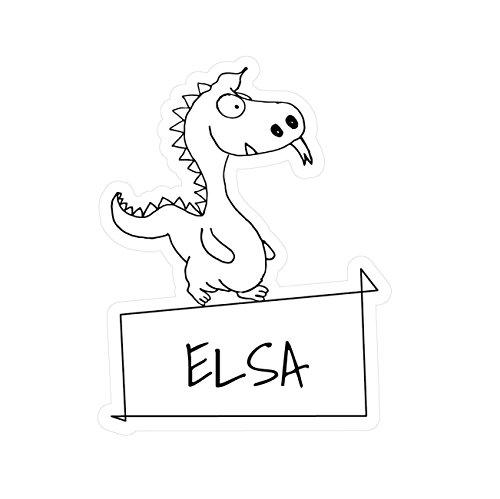 JOllipets Baby Kinder Aufkleber - ELSA - Variante: Tiere Zoo - Farbe: Design: Drache