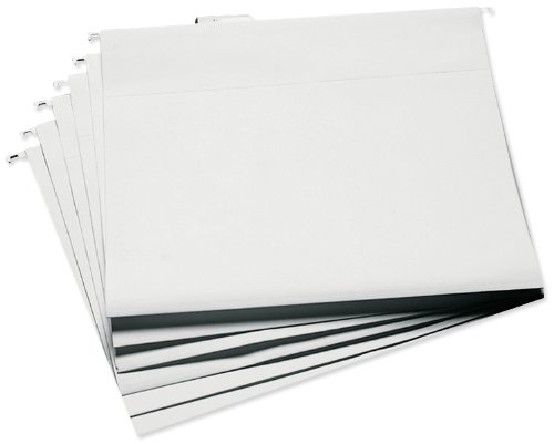 Cropper Hopper Hanging File Folders 6/Pkg-13.25x14.75 White by Advantus -