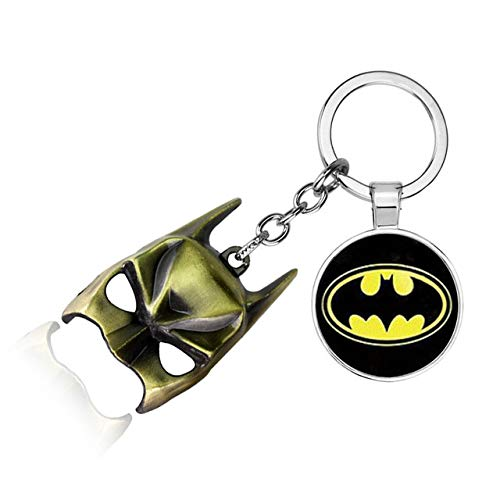 Inveroo The Avengers Captain America Keychain Superhero Star Shield Pendant Batman Marvel Keyring Car Key Chain Accessoires