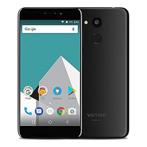 Vernee M5 Android 7.0 Handy 4G LTE Smartphone 4GB RAM 64GB ROM Dual SIM ohne Vertrag 5.2 Zoll HD Display MTK6750 Octa Core 13MP + 8MP Kamera 3300mAh 6.9mm Metallkörper Fingerabdrucksensor, (Sim Ohne Vertrag)