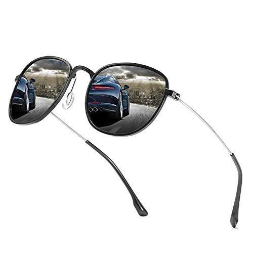 Sxuefang Sonnenbrillen MäNner Und Frauen Mit Der Gleichen Polarisierten Elliptischen Aluminium-Magnesium-Legierung Retro Brille Fahrer Fahren Spiegel