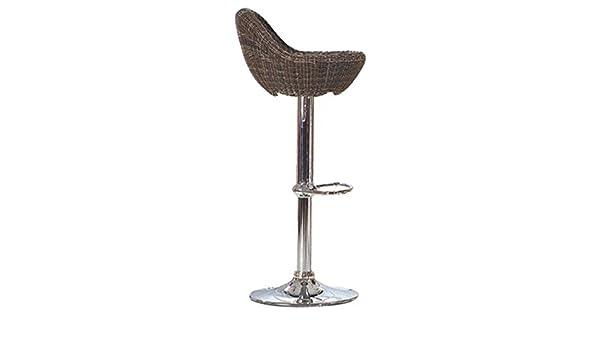 Sgabelli zaixi mobili set di wicker rattan bar alto girevole cucina