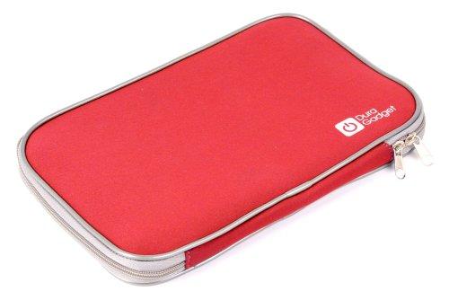 DURAGADGET Housse en néoprène rouge pour tablette Vtech Genius XL Touch Color (121505) et Ordi-tablette Genius Xl (155505 et 155555) Jeu Electronique - résistante à l'eau et garantie 5 ans 5052400498272