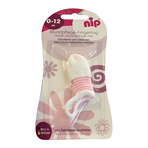 Nip Mundpflege-Fingerling rosa (1St Pack)