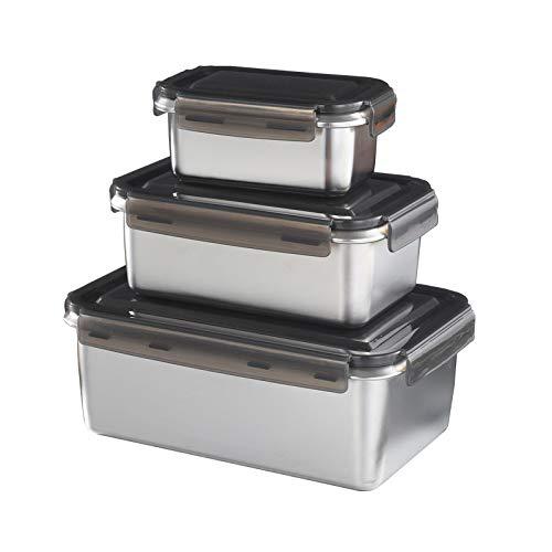 NoNo Edelstahl 316 abgedichtet Nahrungsmittelkästen Gemüsefach Kimchi Kühlschrank Aufbewahrungsbox Küchen rechteckigen Kastens