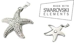 """Glitzernder Seestern Magnet Ketten Anhänger """" Sabo - Atlantis """" massiv mit Swarovski Chrystals - Energetix 4you"""