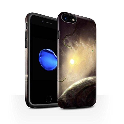 Offiziell Chris Cold Hülle / Glanz Harten Stoßfest Case für Apple iPhone 7 / Entfernten Stern Muster / Galaktische Welt Kollektion Entfernten Stern