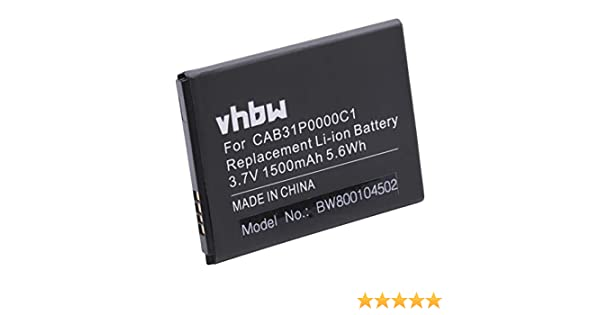 vhbw battery 1500mAh for Smartphone mobile Alcatel One Touch ...
