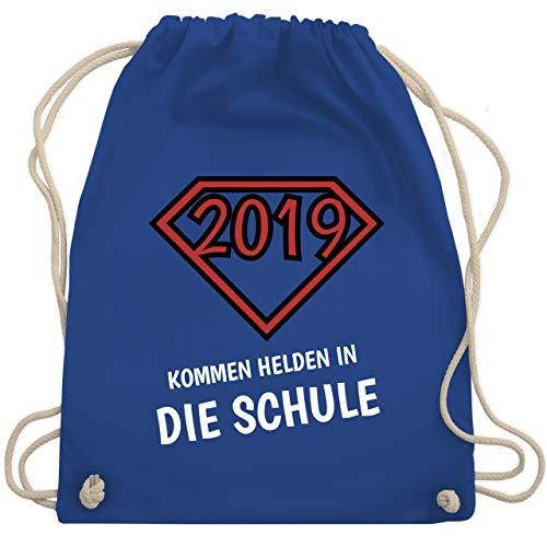 Einschulung und Schulanfang - 2019 kommen Helden in die Schule - Unisize - Royalblau - WM110 - Turnbeutel & Gym Bag