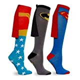 Kent MarkS Erwachsene Comic Hero Kostüm Wonder Woman Batman Superman Cape Socken kniehoch