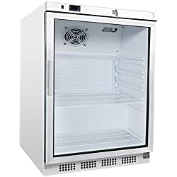 Kühlschrank mit Glastür, 600x600x850 mm, 200 L / 78 L,