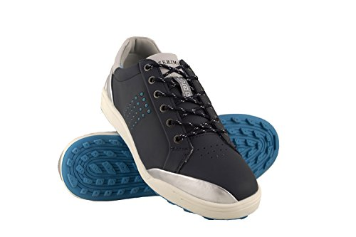 Zerimar Scarpe da Golf da Uomo | Scarpe Sportive da Uomo | Calzature Sportive per Il Golf | Scarpa Sportiva da Uomo in Pelle | Scarpe Sportive Golf | Colore Blu Navy Taglia 42