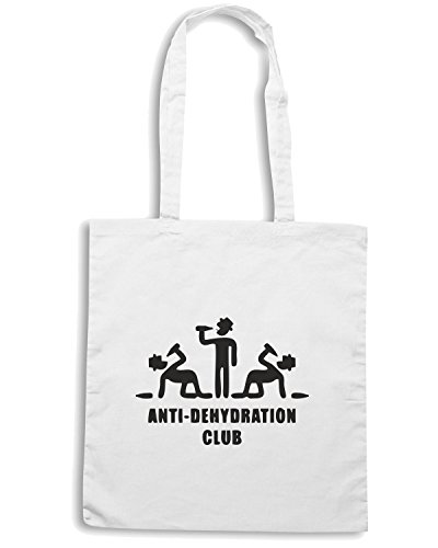 T-Shirtshock - Borsa Shopping MAT0002 Anti Dehydration Club Maglietta Bianco