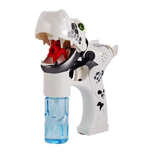 Omiky-Spielzeug für draußen Musik Dinosaurier Blase Maschine Wasser Spielzeuge Sommer Baden Spielzeug, Kindertag Geschenk Jungen Mädchen Erwachsene Kinder Spielzeug (Weiß)