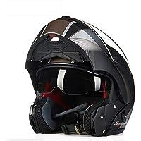 DUBAOBAO Casco Completo para Motocicleta, Parasol Doble/Cuatro Formas De Combinación De Casco,