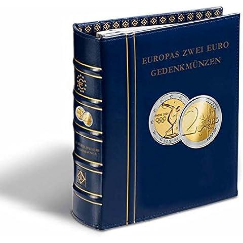 Álbum preimpreso Classic-OPTIMA,monedas europeas conmemorativas de 2 euro+cajetín,azul