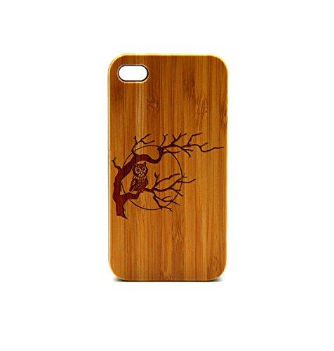 Krezy Case Real Wood iPhone 6 Case, Cute owl iPhone 6 Case, eyes iPhone 6 Case, Wood iPhone Case,