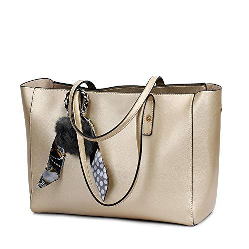 YZJLQML Damentasche DamenbekleidungCasual One-Shoulder-Mode Mutter Tasche Umhängetasche Damen Handtasche - Gold