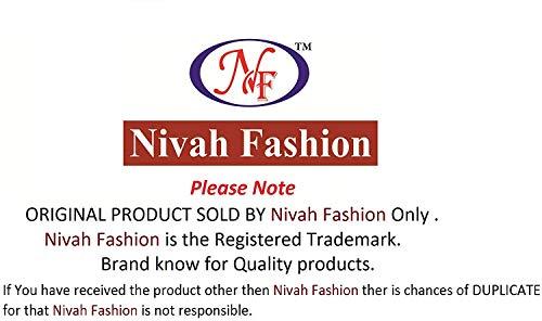 Nivah Fashion Women's Satin & Net Embroidery Saree with Blouse Piece(K608-Light Orange-Free Size)