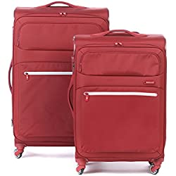 Roncato Trolley Juego de maletas, 122 liters, Rojo (Rosso Scuro)