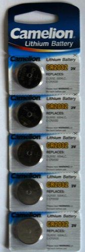 5 Lithium Knopfzellen Batterien Camelion CR2032 3 V 220 mAh CR2032-BP5 E02 2021