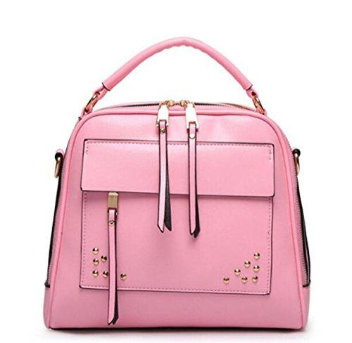 Mme Rivet Sac à Bandoulière Multifonctions, Taille 27 * 10 * 27cm pink