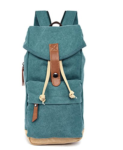 Herren / Damen canvas Rucksack Green