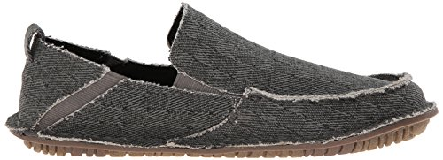 Crevo Rasta Rund Textile Slipper Charcoal