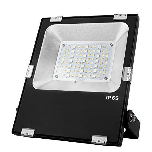 LIGHTEU Milight Lampe de jardin RGBCCT 30W WiFi Couleur RVB plus blanc chaud et bland froid changement de couleur et température de couleur réglable Projecteur IP65 futt03