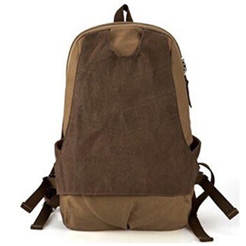Zaino Da Viaggio Uomini Borsa In Cotone Zaino Canvas Zaino Da Viaggio Student Pack Outdoor,Khaki Khaki