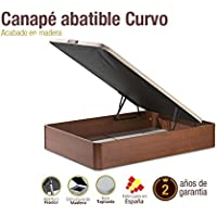 Naturconfort Canapé de madera Curvo 180x200cm