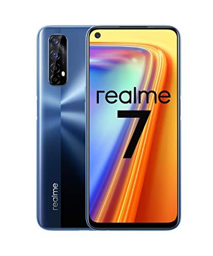 """Oferta de realme 7 - Smartphone de 6.5"""", 8GB RAM + 128GB ROM, LCD FHD+, Helio G95 Gaming, cuádruple cámara Sony 48MP + 16MP Frontal. Dual SIM + 1 Micro SD. Azul Niebla [Versión ES/PT]"""