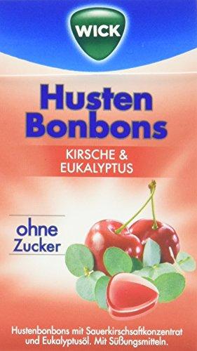 WICK Kirsche + Eukalyptus ohne Zucker, 10er Pack (10 x 46 g)
